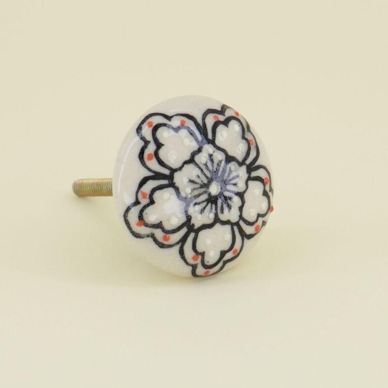 Pink Dot Floral Knob -  dc0933
