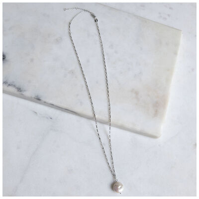 Sterling Silver & Freshwater Pearl Pendant Necklace