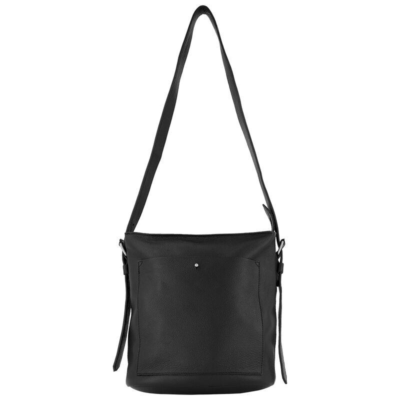 Aubrielle Cross Body Leather Bag -  black