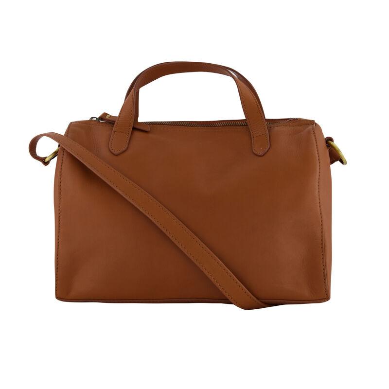 Ariella Leather Bowler Bag -  brown