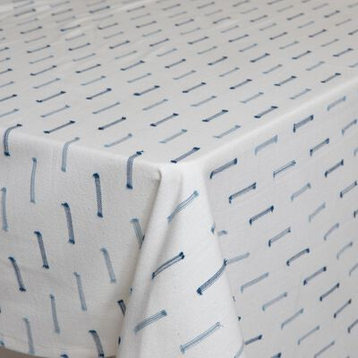 Blue Stitch Tablecloth