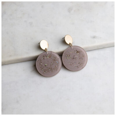 Resin Disc Drop Earrings