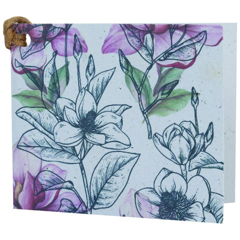 Growing Paper Soft Floral Tag -  assorted