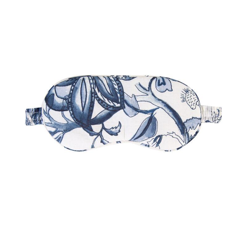 Cora Floral Eye Mask -  blue-white