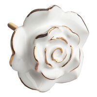 Gold Rim Rose -  white-gold