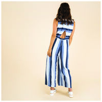 Neera Stripe Jumpsuit -  blue