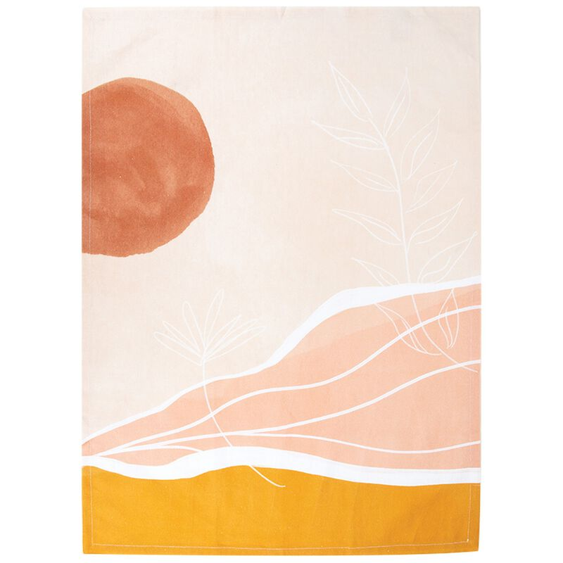 Sunbaked Abstract Tea Towel -  assorted