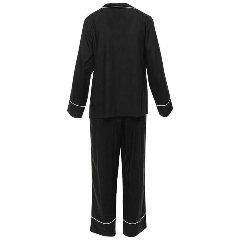 Trinity Long Black Pyjama Set -  black