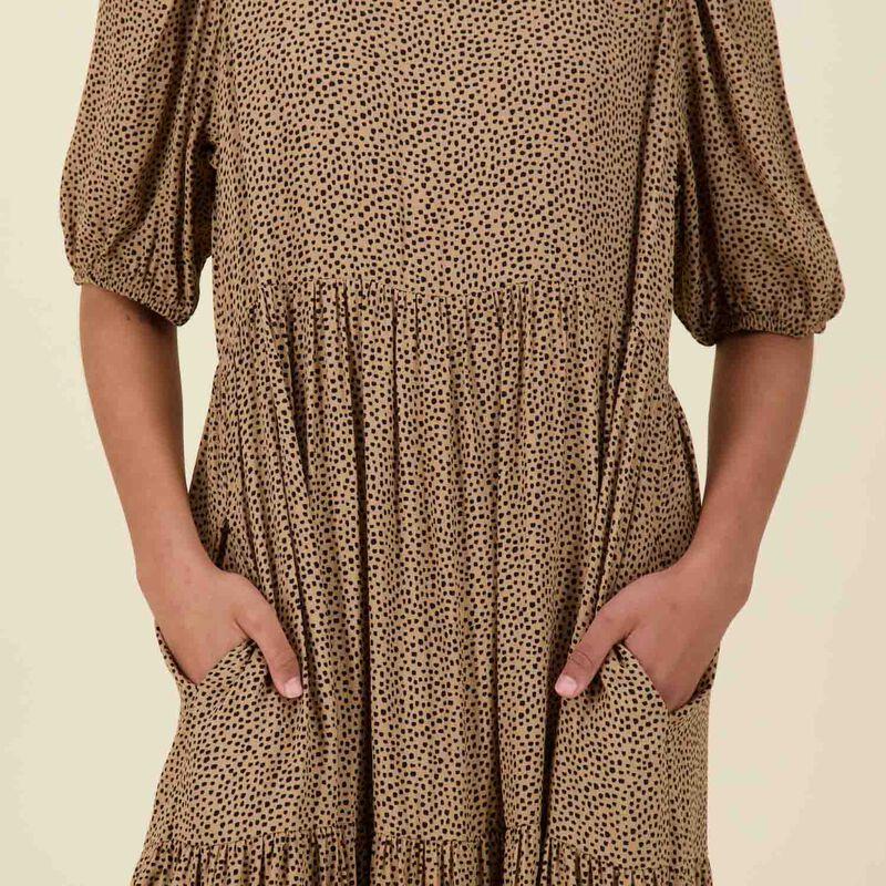 Poppy Tiered Dress -  camel