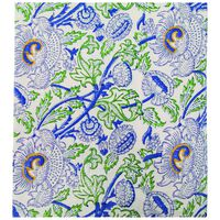 Kyra Tablecloth with Embroidery -  blue-grey