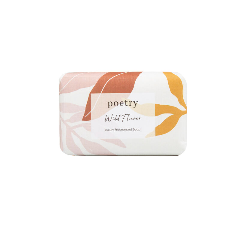 Wild Flower Soap Bar -  pink-ochre