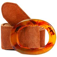 Dalary Suede Leather Belt  -  rust