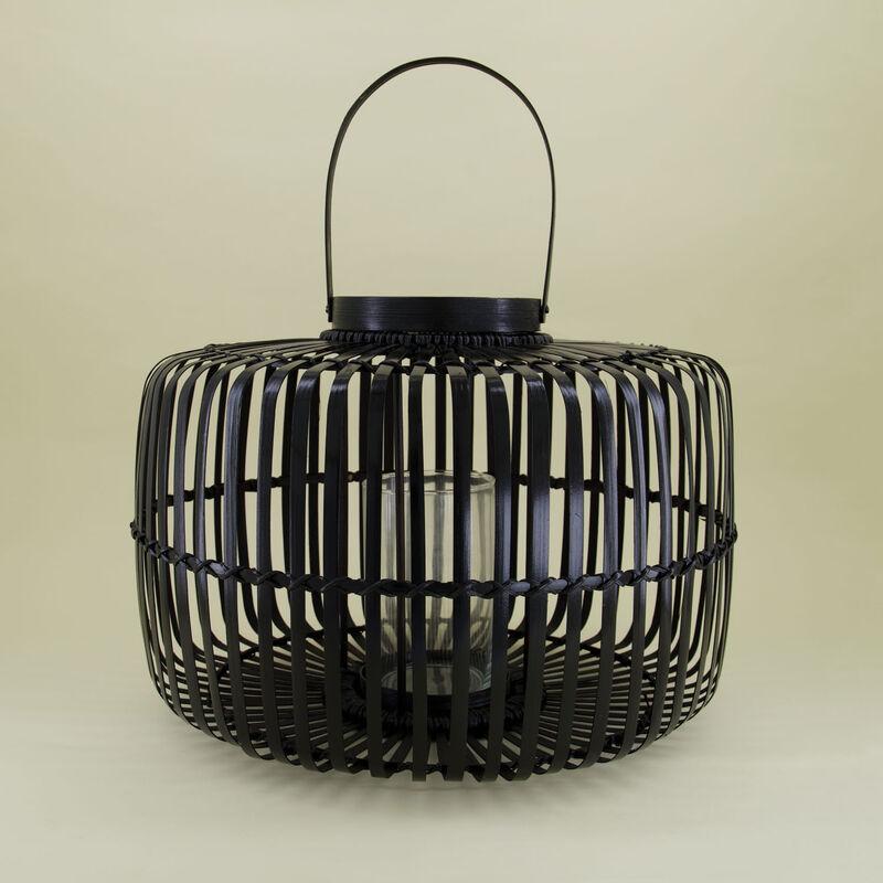Small Bamboo Black Lantern -  black