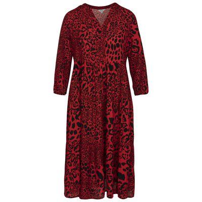 Alsabe Leopard-Print Tiered Dress