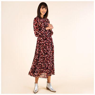 Rosemary Printed Pleat Dress
