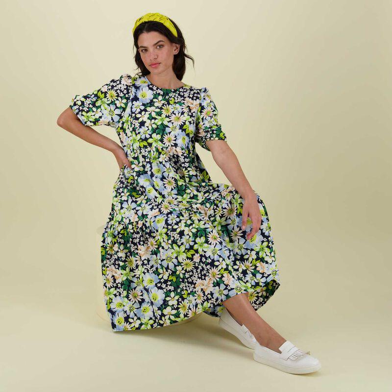 Poppy Tiered Dress -  yellow