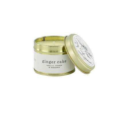 Amanda Jayne Ginger Cake Candle in Gold Tin