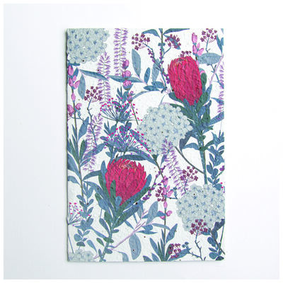 Growing Paper Protea Card