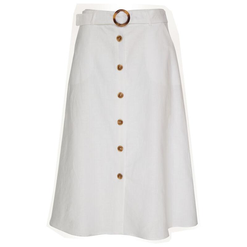 Huil Linen Skirt -  white
