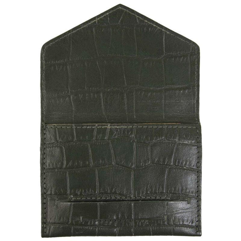 Elaina Leather Cardholder -  green