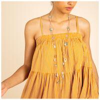 Val Stripe Dress -  yellow
