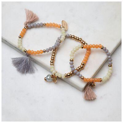 3-Pack Bead & Tassel Bracelet Set