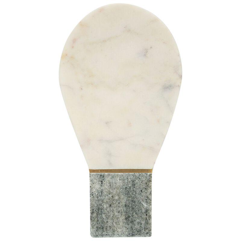 White & Green Marble Spoon Rest -  white-green