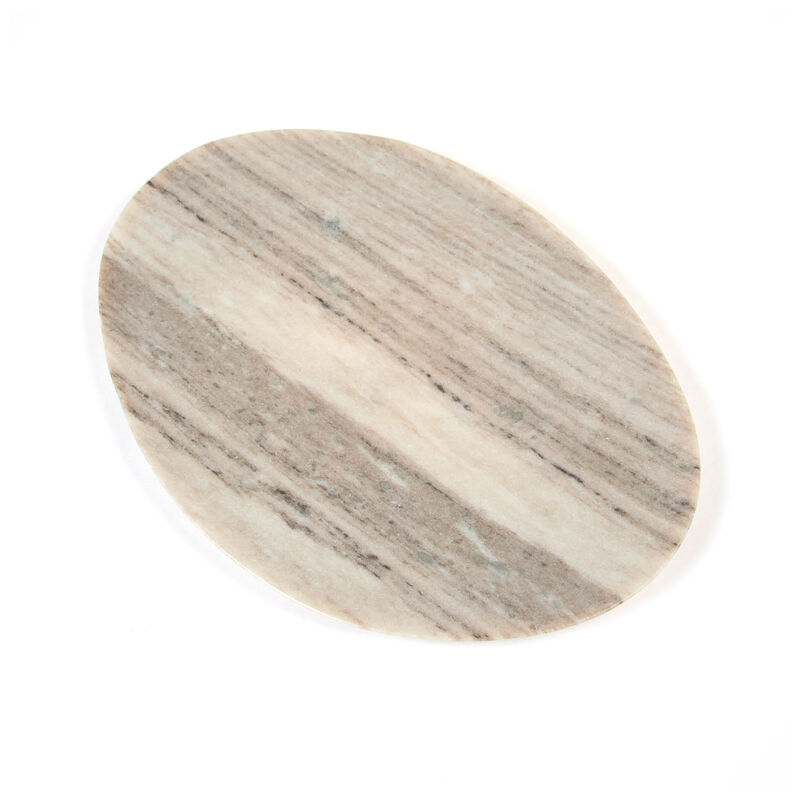 Large Organic Marble Plate -  oatmeal