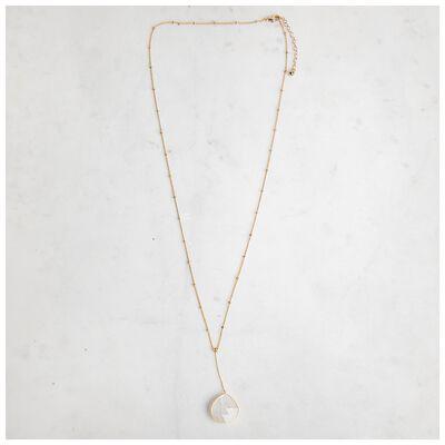 Natural Stone Y-Drop Necklace