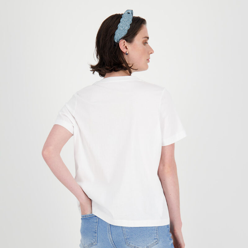 Michaela Plain T-Shirt -  white