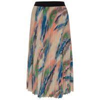 Zeni Pleated Skirt -  peach