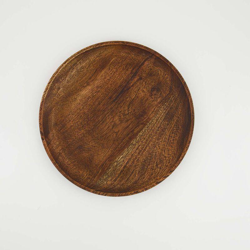 Mid Wash Wooden Bowl (Medium) -  brown