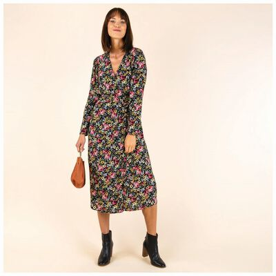 Vienna Floral Wrap Maxi Dress