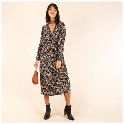 Vienna Floral Wrap Maxi Dress
