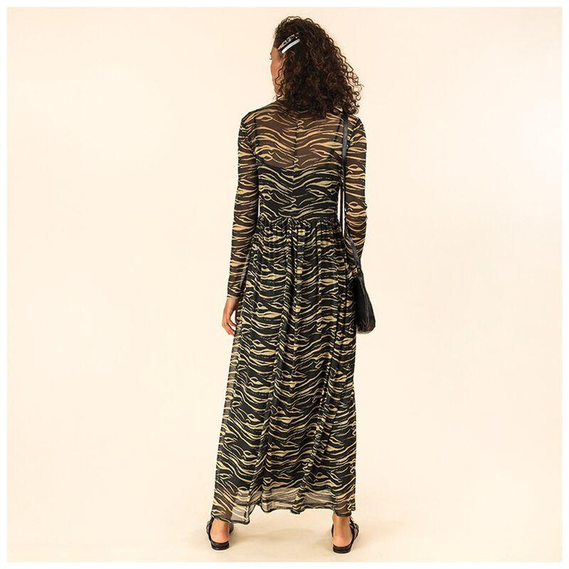 Gita Mesh Dress -  black