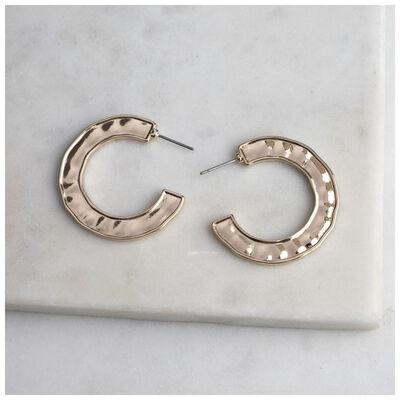Side Detail Hoop Earrings