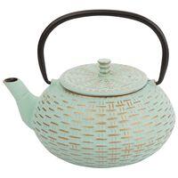 Gold Patterned Cast Iron Teapot -  mint-gold