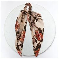 Velvet & Satin 2-Pack Hair Ties -  chocolate-brown