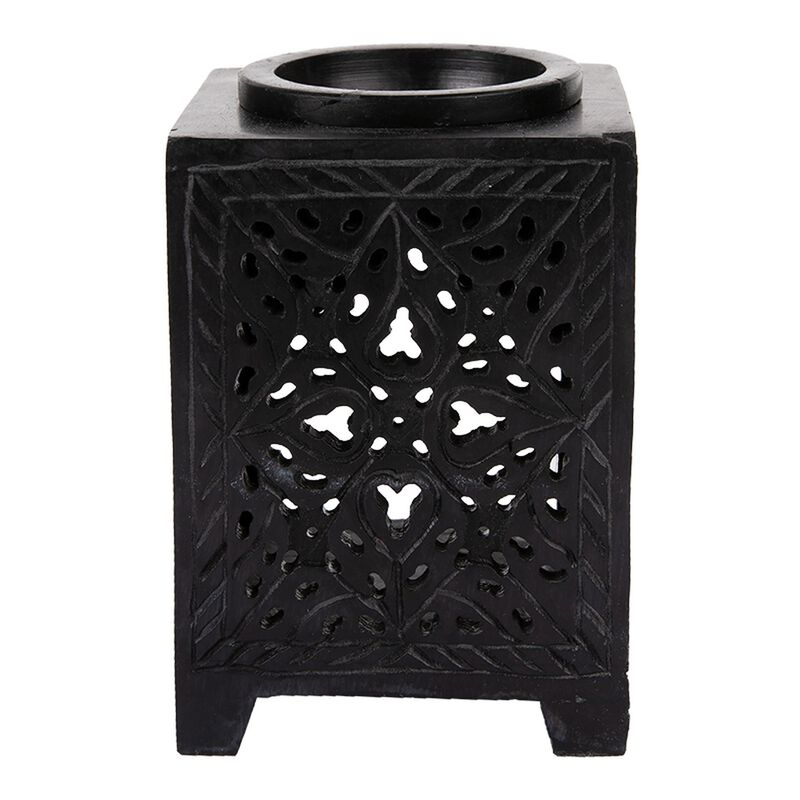 Black Soapstone Oil Burner -  black-black