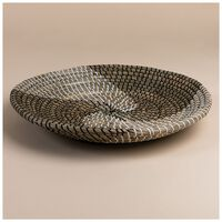 Large Seagrass Tray  -  black-oatmeal