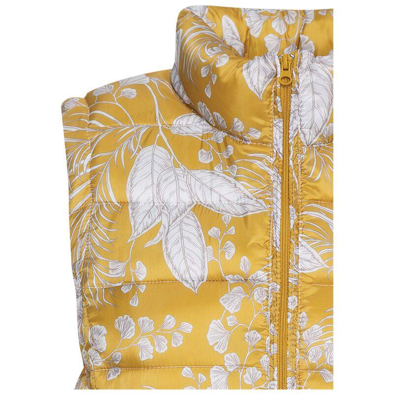 Amor Printed Sleeveless Puffer -  yellow