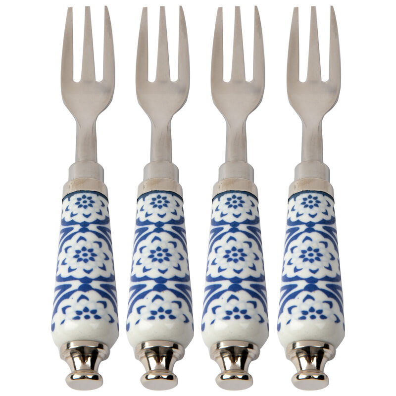 Luna Enamel Cake Fork Set -  assorted