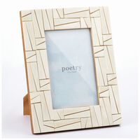 Abstract Bone Frame -  white-brown