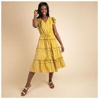 Clio Pom Pom Dress -  ochre