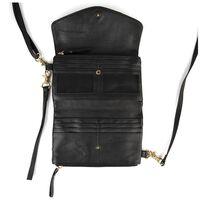Hope Cross Body Leather Bag -  black