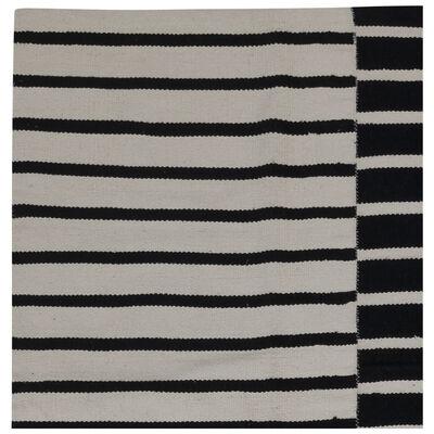Black Stripe Cotton Rug