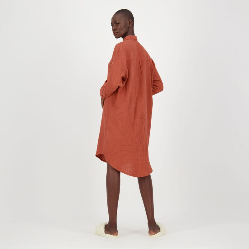 Frankie Loungewear Dress -  rust