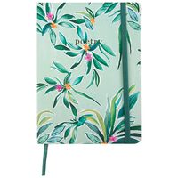 Bamboo Blossom Notebook -  green-blue