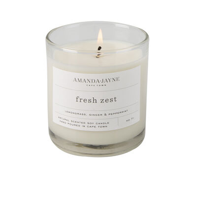 Amanda Jayne Fresh Zest Candle in Glass