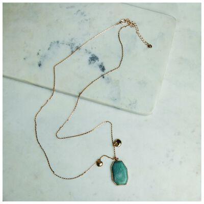 Angular Stone Pendant Necklace